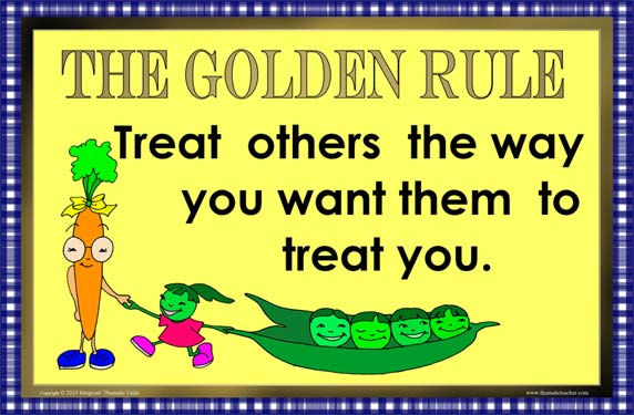 Subject area themes thematic teacher for Golden rule painting