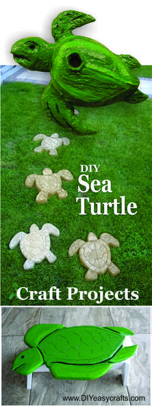 DIY Nautical Decor Sea Turtle Craft projects. www.DIYeasycrafts.com
