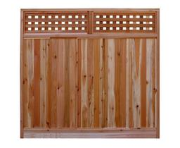 Western Red Cedar Example Panel - Western Red Cedar Wood Fencing Company In Chicago