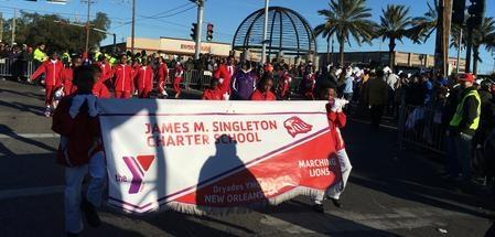 Picture of The Singleton Lions marching band Banner