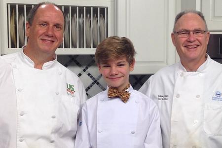 Logan Guleff with Chef Bland