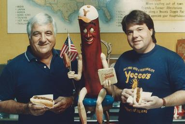 Gary and Julie with the Hot Dog Man