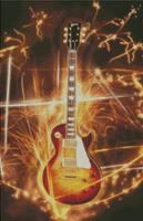 Cross Stitch Chart Pattern of Giibson Les Paul with firecrackers
