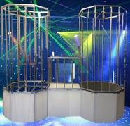 gogo cages, gogo stages, go go dance stage, buy gogo cage
