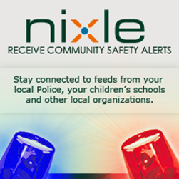 Sign up for Nixle community alerts.