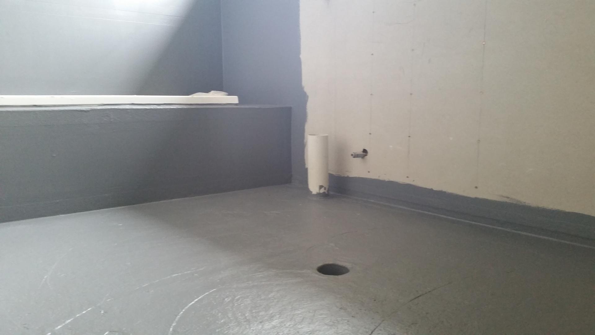 Waterproofing bathroom shower