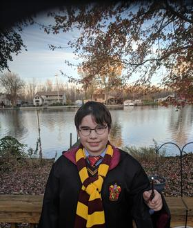 Syd as Harry Potter for 2017 Halloween