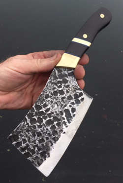 How to make a Cross Cut hammer Peened Cleaver knife. FREE step by step instructions. www.DIYeasycrafts.com