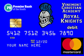 Premier Bank School Spirit Debit Cards