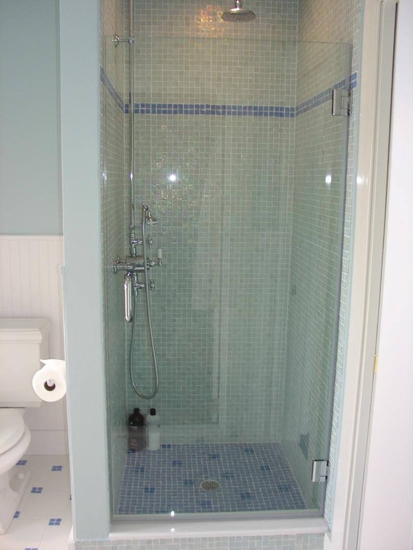 Frameless Shower Doors Images, New Vision glass shower enclosures