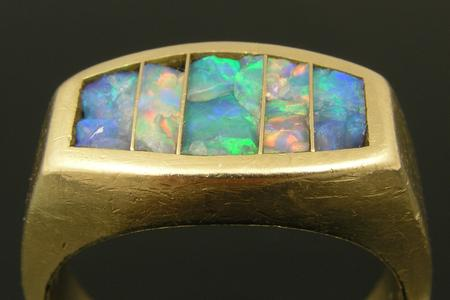 Opal inlay ring in need of repair