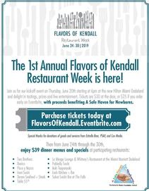 Miami Events: Flavors of Kendall; Restaurand Week; 3 course meals; Fixed prices; Three course menus; Family Events