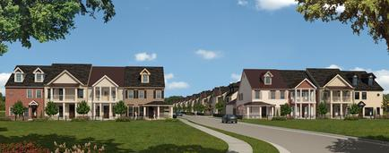 Rendered Image Of Townhomes In Tuscaloosa, AL - Pinnacle Park at Northriver
