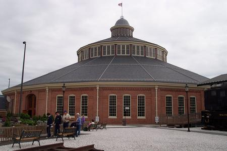 The B&O Roundhouse, exterior view.