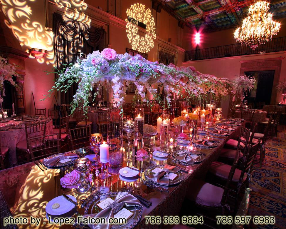Biltmore Hotel Miami Quince Party Quinces at Biltmore Hotel Parties Decoration Centerpieces Stage