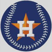 Cross Stitch Chart pattern of the Houston Astros