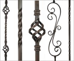 oil rubbed bronze iron balusters