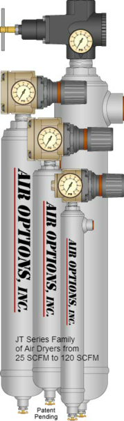 Air Options Family of JT Series Refrigerated Compressed Air Dryers