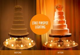 Wedding and Event DJ Offering Pin Spot Accent Lighting based in Charlotte NC