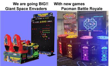 Arcade games Space Invaders Frenzy PacMan Battle Royale DX