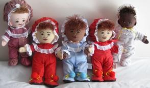 Raggedy dolls all cloth baby dolls