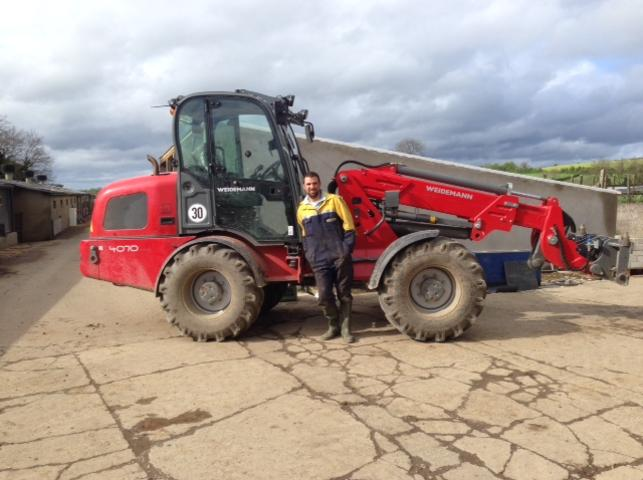 Russel Aderson Co. Down with his Weidemann 4070T