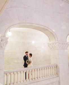 Classic Elopement at City Hall in Minneapolis