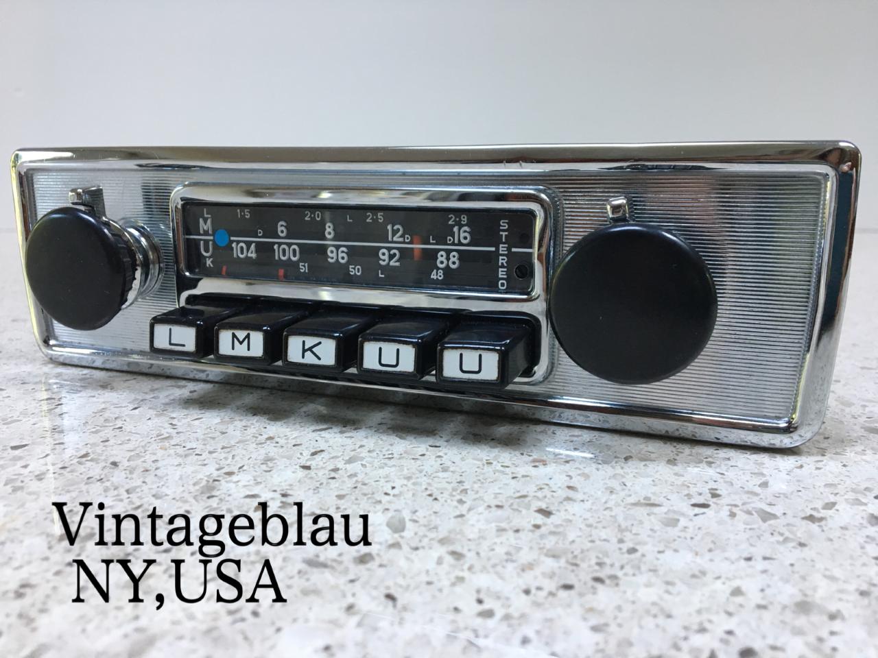 vintageblau classic car radios - vintage blaupunkt radios for classic  porsche jaguar and mercedes