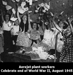 Aerojet Secretaries 1945 celebration