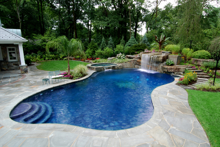 Backyard Designs With Inground Pools find this pin and more on awesome inground pool designs Allure Design Inground Pools Surrounds Fencing