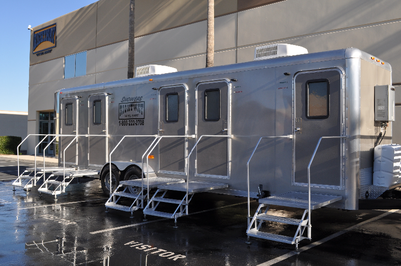 chamberlin shower types trailer and combo restroom toilet luxury wingert trailers