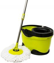 small yellow mop and bucket
