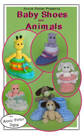 Crochet Baby Booties and Animals pattern