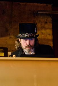 Steampunk DJ at Cogs Bar