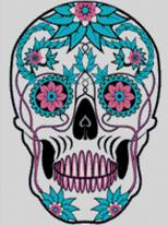 Cross Stitch Chart of Sugar Skull No 33
