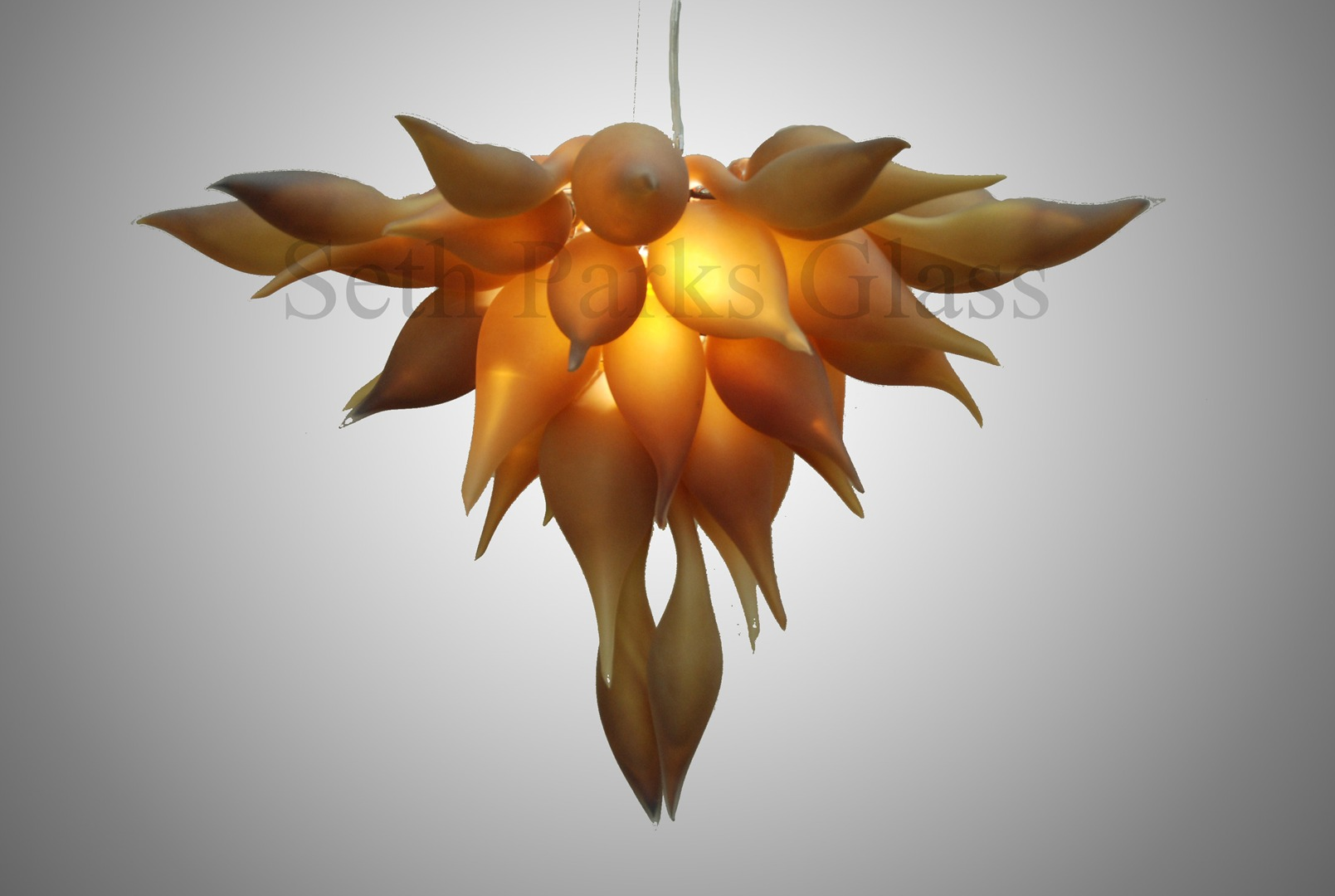 Blown glass light fixtures seth parks glass bella fiore chandelier starting at 3000 aloadofball Choice Image