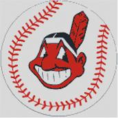 Cross Stitch Chart pattern of the Cleveland Indians