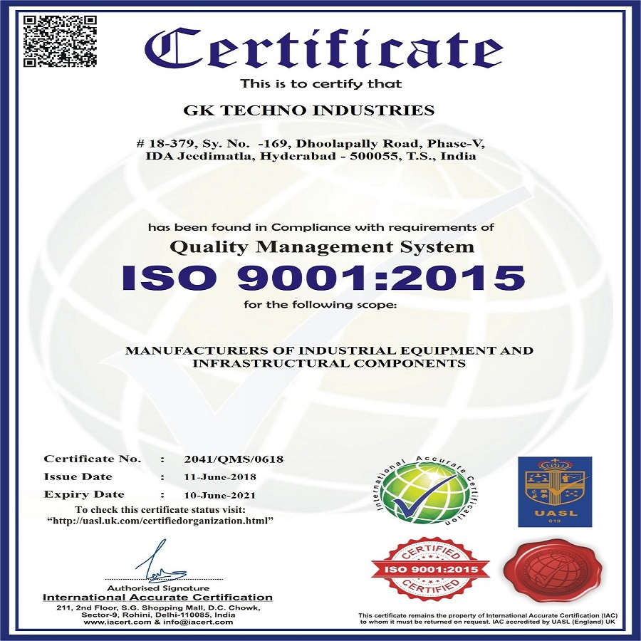 About Our Company | GK Techno Industries