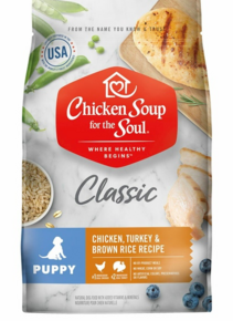 Chicken Soup Dry Puppy Food Comes in Multiple sizes