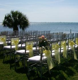 Bayfront ceremony at the Crosley estate