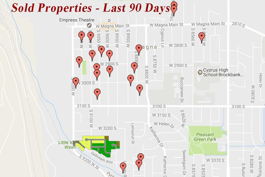 Sold Properties in Magna in the last 90 days