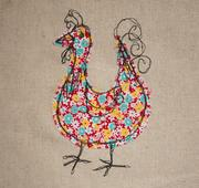 Floral Chicken Logo Upholstery