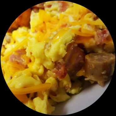 Three Meat Scramble