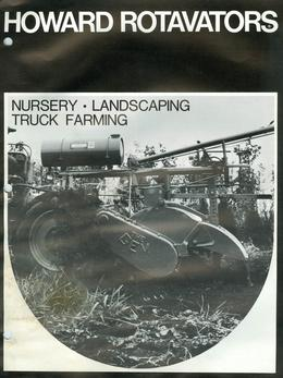 Howard Rotavators Nursery/Landscaping/Truck Farming Brochure