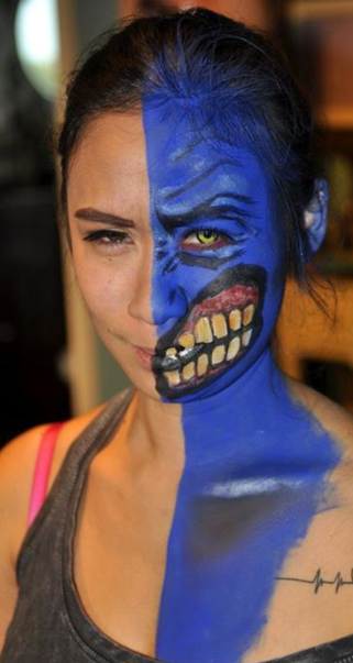 Lady Two Face Face Paint