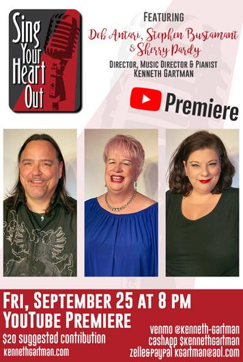 Deb Antari, Stephen Bustamante and Sherry Pardy in a Sing Your Heart Out Cabaret Workshop Performance