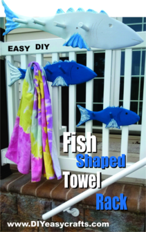 Fish Shaped Towel Rack Easy DIY woodworking project. www.DIYeasycrafts.com