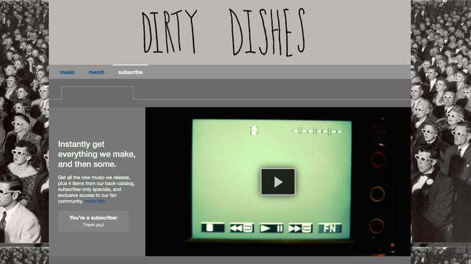 Dirty Dishes Band Subscribe bandcamp Jenny Tuite