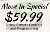 Garage Door Remote program coupon in Las Vegas