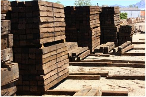 Railroad Ties For Sale, Railroad Tie Retaining Wall